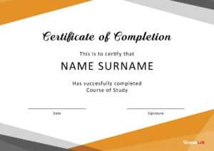 40 Fantastic Certificate Of Completion Templates [Word in Certificate Templates For Word Free Downloads
