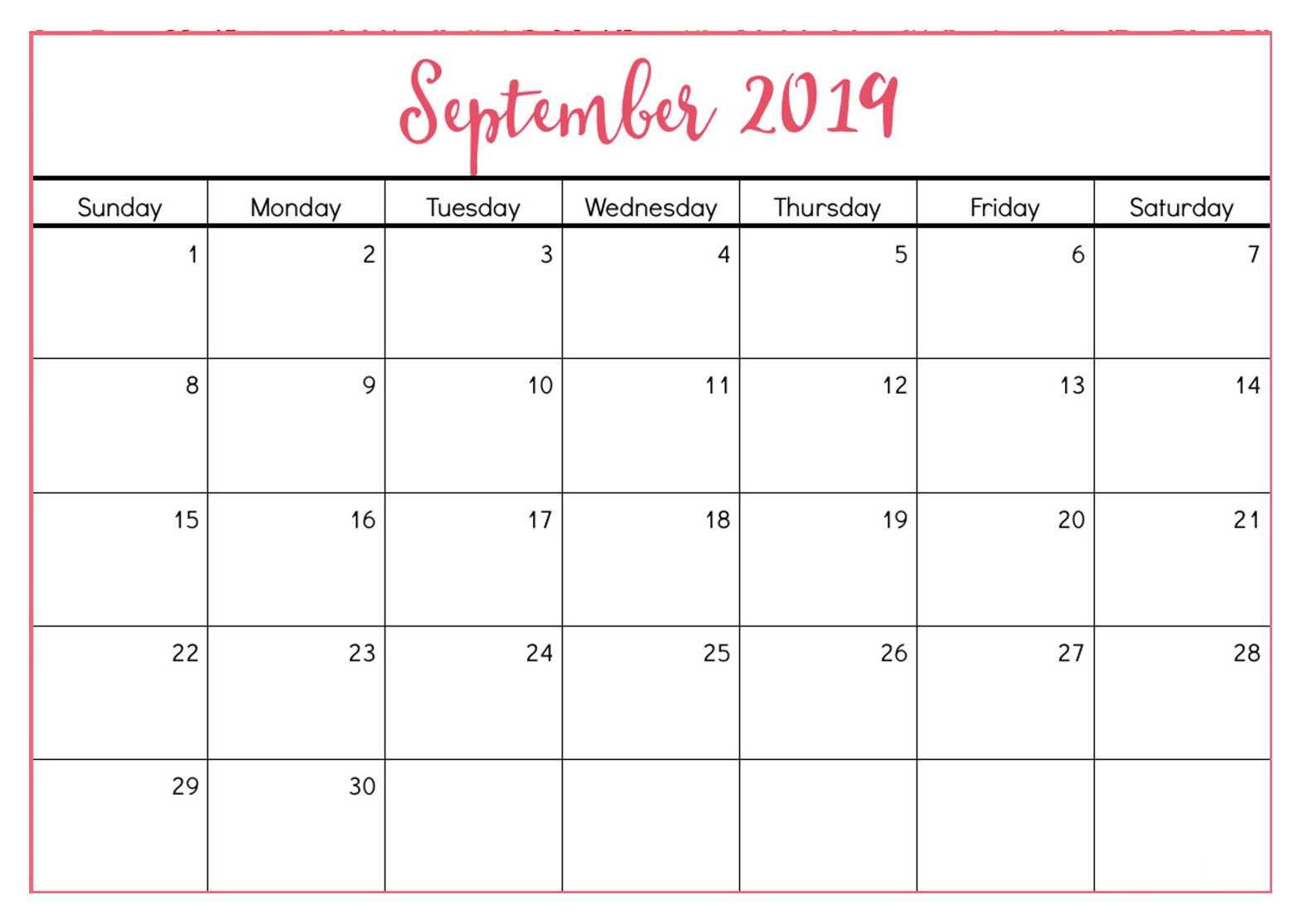 Calendar Templates For Blank Calender Template