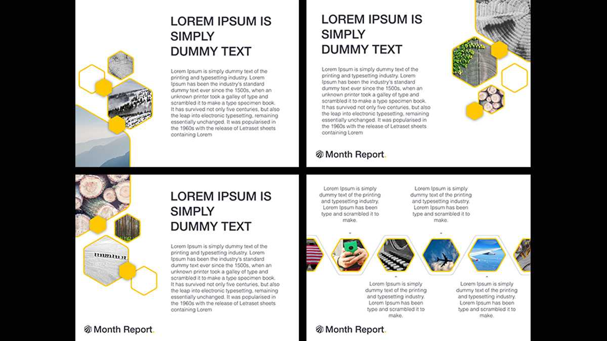 Month Report Powerpoint Template Pertaining To Monthly Report Template Ppt