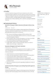 Operations Manager Resume & Writing Guide | +12 Examples | Pdf | intended for Operations Manager Report Template