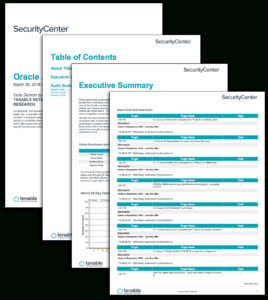 Oracle Audit Results - Sc Report Template   Tenable® throughout Security Audit Report Template