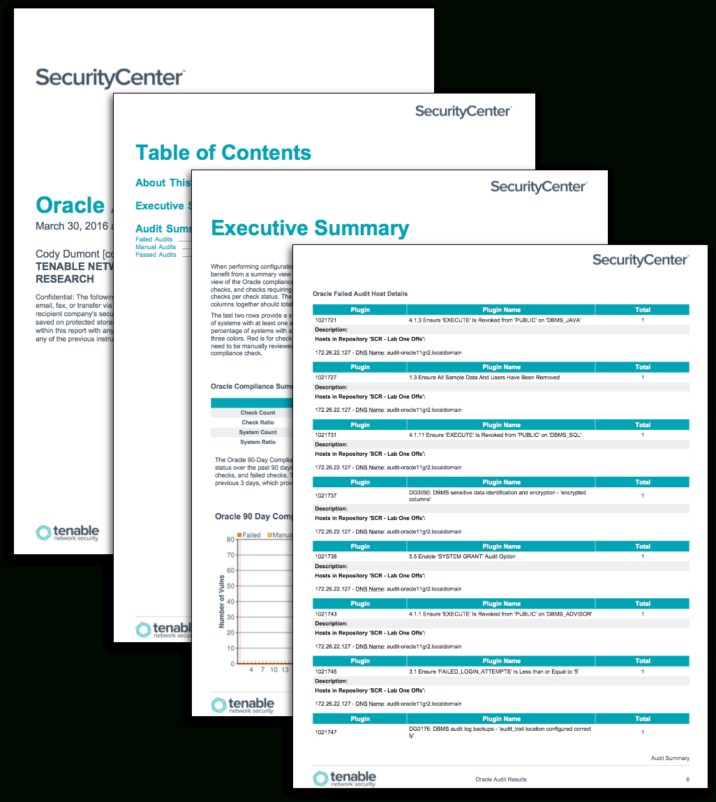 Oracle Audit Results - Sc Report Template | Tenable® Throughout Security Audit Report Template